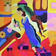 Marc And Bella Chagall Art Print
