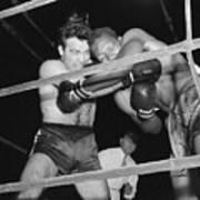 Marcel Cerdan And Holman Williams Boxing Art Print
