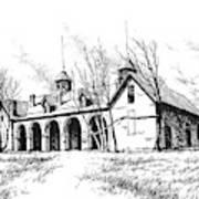 Marcus Daly Tammany Barn Hamilton Montana Art Print