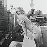 Marilyn On The Roof Art Print