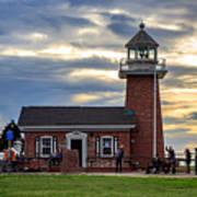 Mark Abbott Memorial Lighthouse And Santa Cruz Surfing Museum Art Print