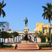Matanzas, Cuba - Main Square. Palm Art Print
