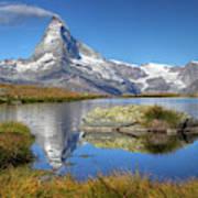 Matterhorn From Lake Stelliesee 07, Switzerland Art Print