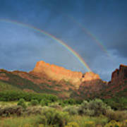 Maxwell Canyon Rainbow Art Print