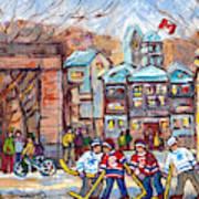 Mcgill University Roddick Gates Original Painting For Sale Hoockey Art C Spandau Canadian City Scene Art Print