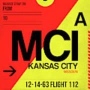 Mci Kansas City Luggage Tag I Art Print