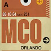 Mco Orlando Luggage Tag I Art Print