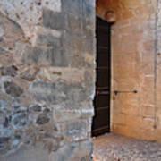 Medieval Castle Entrance In Algarve Art Print