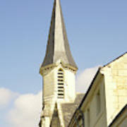 medieval church spire in France Art Print