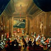 Meeting Of The Masonic Lodge, Vienna Art Print