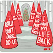 Melania Christmas Trees Art Print