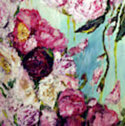 Melting Flowers Art Print