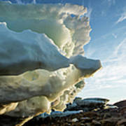 Melting Iceberg, Nunavut Territory Art Print