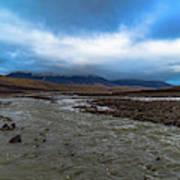 Meltwater Valley On Svalbard Art Print