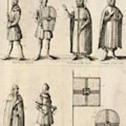 Members Of The Order Of Christ  Art Print