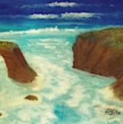 Mendocino Waves Art Print