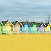 Mersea Island Beach Huts, Image 1 Art Print