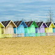 Mersea Island Beach Huts, Image 3 Art Print