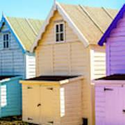 Mersea Island Beach Huts, Image 6 Art Print