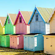 Mersea Island Beach Huts, Image 7 Art Print