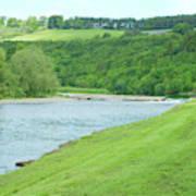 Mertoun Salmon Beat On River Tweed Art Print