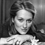 Meryl Streep Art Print By Evening Standard