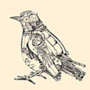 Metal Bird Art Print