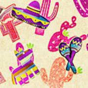 Mexican Mural Art Print