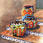 Mexican Pottery Still Life Art Print