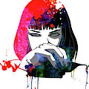 Mia Snorting Watercolor Art Print