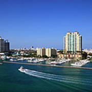 Miami Beach Marina Art Print