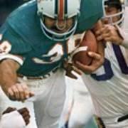Miami Dolphins Larry Csonka, Super Bowl Viii Sports Illustrated Cover Art Print