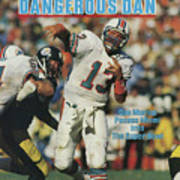 Miami Dolphins Qb Dan Marino, 1985 Afc Championship Sports Illustrated Cover Art Print
