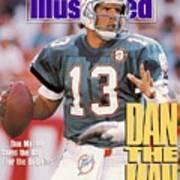 Miami Dolphins Qb Dan Marino, 1991 Afc Wild Card Playoffs Sports Illustrated Cover Art Print