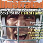 Miami Dolphins Qb Dan Marino, 1995 Nfl Football Preview Sports Illustrated Cover Art Print