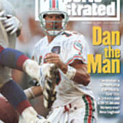 Miami Dolphins Qb Dan Marino... Sports Illustrated Cover Art Print