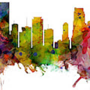 Miami Florida Skyline Panoramic Art Print