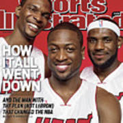 Miami Heat Chris Bosh, Dwyane Wade, And LeBron James Sports Illustrated Cover Art Print