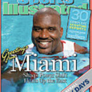 Miami Heat Shaquille Oneal, 2004-05 Nba Basketball Preview Sports Illustrated Cover Art Print