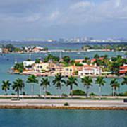 Miami Mac Arthur Causeway En Route To Art Print