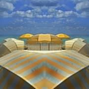 Miami Mirror Beach Art Print