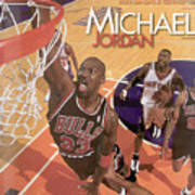 Michael Jordan A Career In Pictures Sports Illustrated Cover Art Print