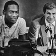 Michael Jordan And Coach Dean Smith Art Print