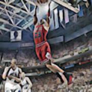 Michael Jordan Chicago Bulls Abstract Art 1 Art Print