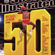 Michael Jordan Turns 50 Sports Illustrated Cover Art Print