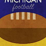 Michigan Football Minimalist Retro Sports Poster Series 001 Art Print