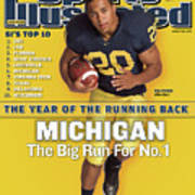 Michigan Mike Hart, 2007 College Football Preview Sports Illustrated Cover Art Print