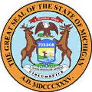 Michigan State Seal Digital Art By Bigalbaloo Stock