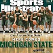 Michigan State University Basketball Team Sports Illustrated Cover Art Print