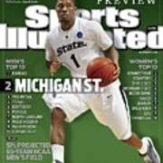 Michigan State University Kalin Lucas, 2009 Ncaa Midwest Sports Illustrated Cover Art Print